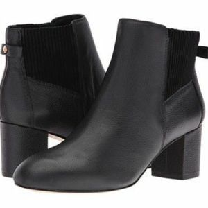 Kate Spade Loren's Black Leather Ankle Boots 7.5